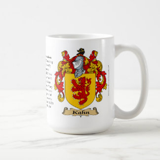Kahn name, the Origin, the Meaning and the Crest Coffee Mug