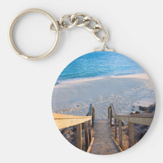 Kaho'olawe Stairs Basic Round Button Keychain