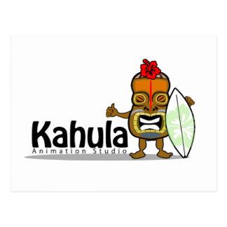 Kahula Animation Tiki Man Postcard