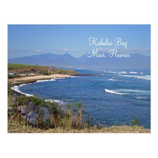 Kahului Bay, Maui, Hawaii Postcard