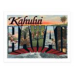 Kahului, Hawaii - Large Letter Scenes Postcard