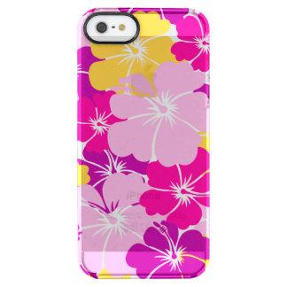 Kahuna Burst - Hawaiian Floral Design Clear iPhone SE/5/5s Case