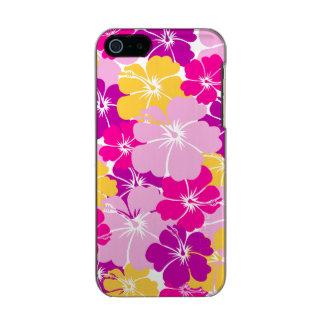 Kahuna Burst - Hawaiian Floral Design Metallic iPhone SE/5/5s Case