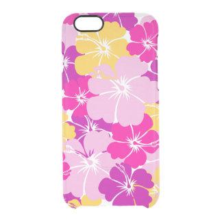Kahuna estalló - diseño floral hawaiano funda clear para iPhone 6/6S