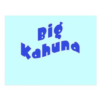 Kahuna grande con los pequeños productos a juego postales