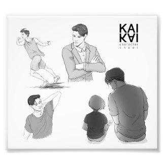 Kai Akiyama character sketch Photo Print