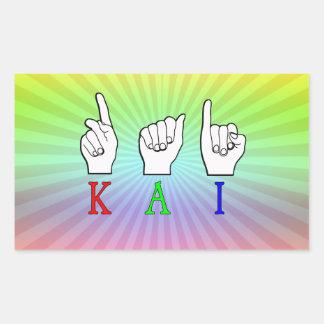 KAI  ASL FINGERSPELLED RECTANGULAR STICKER