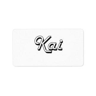 Kai Classic Retro Name Design Address Label