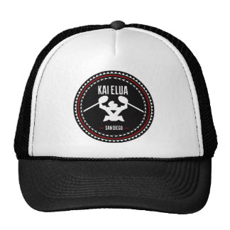 Kai Elua Outrigger 2013 | Black Logo with Red Trim Trucker Hat
