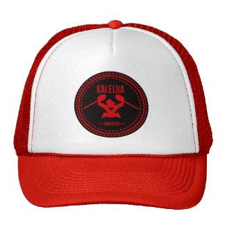 Kai Elua Outrigger 2013   Red Logo Trucker Hat