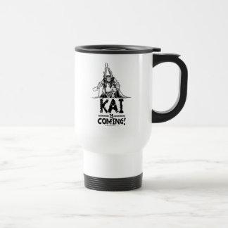 ¡Kai está viniendo! Taza De Viaje