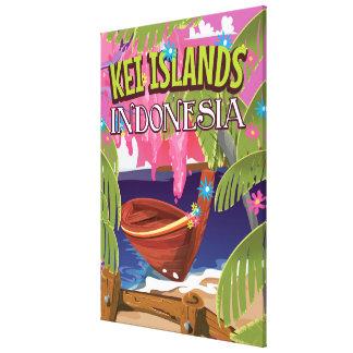 Kai Islands Indonesia travel poster Canvas Print