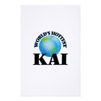 Kai más caliente del mundo papeleria de diseño