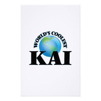 Kai más fresco del mundo papelería de diseño