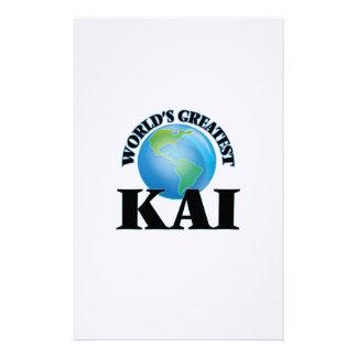 Kai más grande del mundo  papeleria de diseño