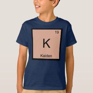 Kaiden  Name Chemistry Element Periodic Table T-Shirt
