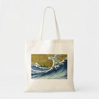 Kaijo ninguna obra maestra de Kanagawa de la onda  Bolsa Tela Barata