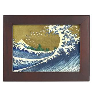 Kaijo ninguna obra maestra de Kanagawa de la onda  Cajas De Recuerdos