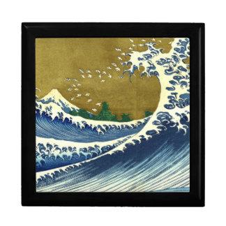 Kaijo ninguna obra maestra de Kanagawa de la onda  Caja De Joyas