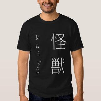 kaiju white on black T-Shirt