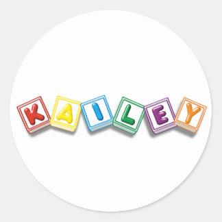 Kailey Classic Round Sticker