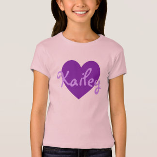 Kailey in Purple T-Shirt