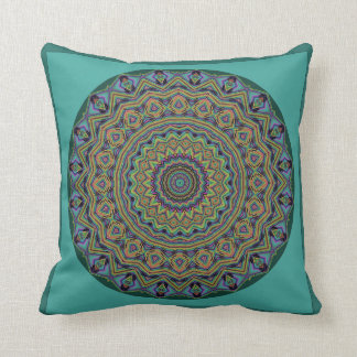 Kailey Mandala Pillow Shades of Teal