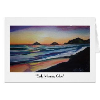 "Kailua Beach ""Early Morning Glow""  Greeting Card"