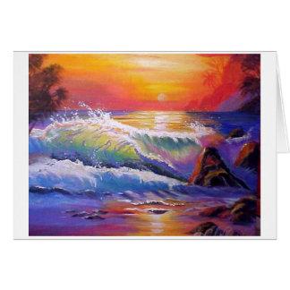 Kailua Beach Evening Sky Card