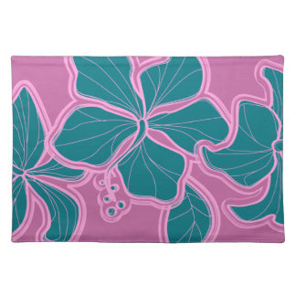 Kailua Hibiscus Hawaiian Dinner Placemats