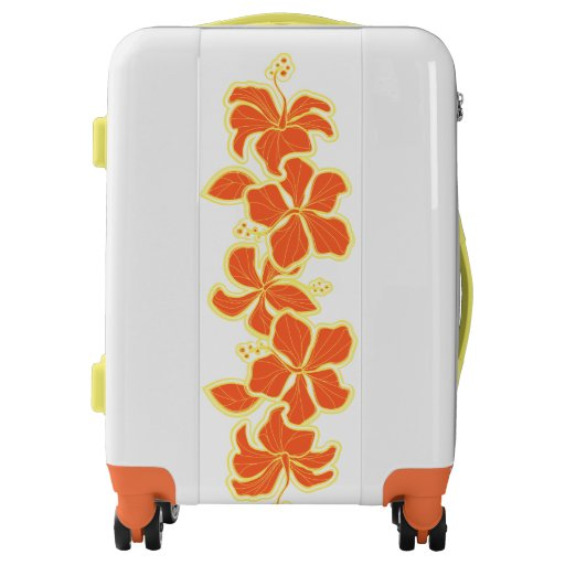 Kailua Hibiscus Hawaiian Engineered Floral Luggage