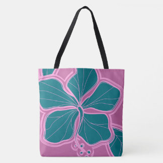 Kailua Hibiscus Hawaiian Reversible Beach Bag