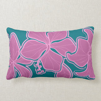 Kailua Hibiscus Hawaiian Reversible Lumbar Pillow