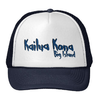 Kailua Kona big island hawaii navy hat