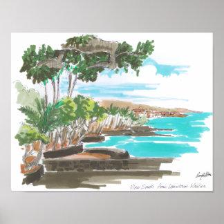 Kailua-Kona Coast Poster