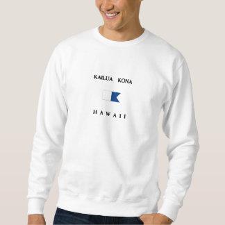 Kailua Kona Hawaii Alpha Dive Flag Sweatshirt