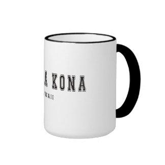 Kailua Kona Hawaii Ringer Coffee Mug