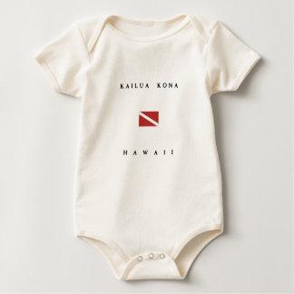 Kailua Kona Hawaii Scuba Dive Flag Baby Bodysuit