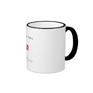 Kailua Kona Hawaii Scuba Dive Flag Ringer Coffee Mug