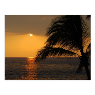 Kailua-Kona, Hawaii, Sunset Postcard