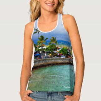 Kailua Kona Pier Hawaii Oil Paint Digital Art Tank Top