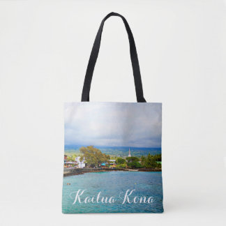 Kailua Kona Pier Hawaii Oil Paint Digital Art Tote Bag
