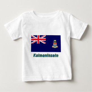 Kaimaninseln Flagge mit Namen Baby T-Shirt