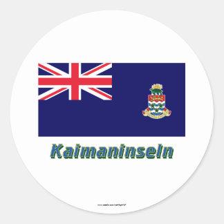 Kaimaninseln Flagge mit Namen Stickers