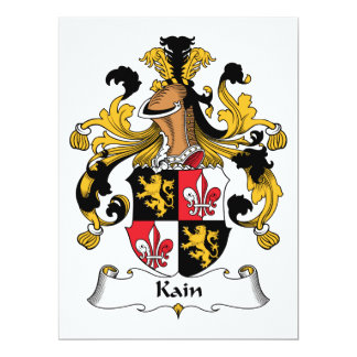 Kain Family Crest Card