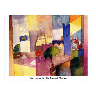 Kairouan (iii) en agosto Macke Tarjeta Postal