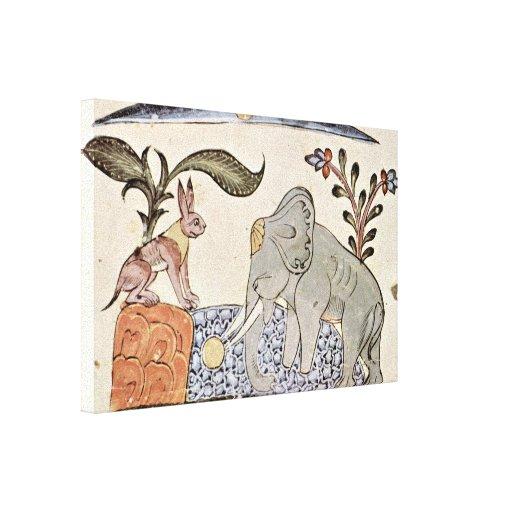 Kais Salman - la liebre y el rey del elefante Impresión De Lienzo