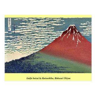 Kaisei de Gaifu por Katsushika, Hokusai Ukiyoe Tarjeta Postal