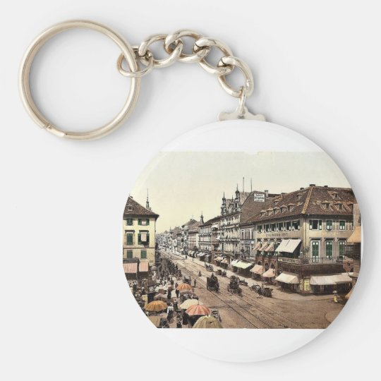 Kaiser Strasse, Karlsruhe, Baden, Germany classic Keychain