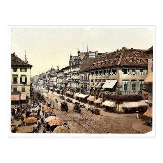 Kaiser Strasse, Karlsruhe, Baden, Germany classic Postcard